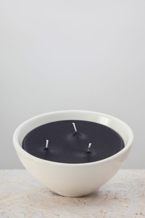 CANDELA ZEN LIGHT NERO CON VASO IN CERAMICA